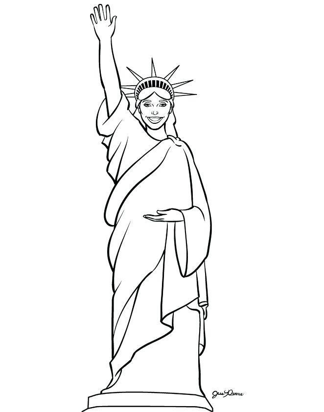 662x842 Statue Liberty Coloring Page Coloring Pages Free Printable