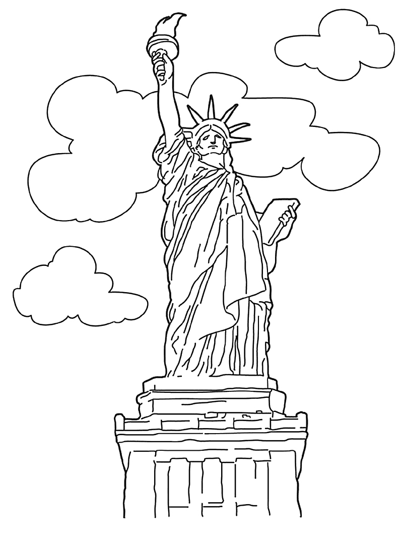 800x1100 Statue Liberty Coloring Page New Free Printable Statue