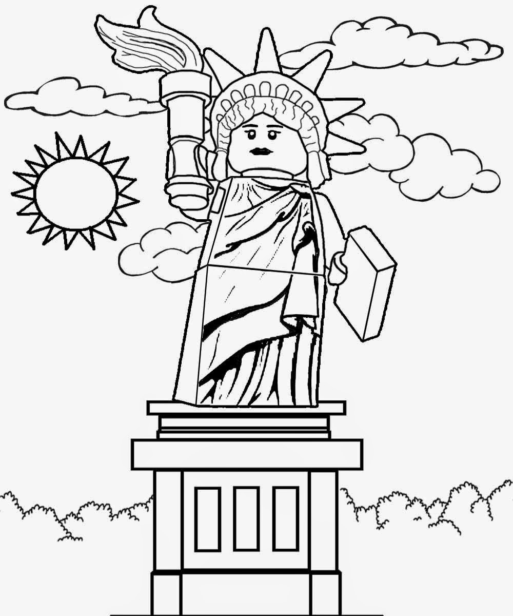 1000x1200 Statue Of Liberty Lego City Coloring Pages Manchester