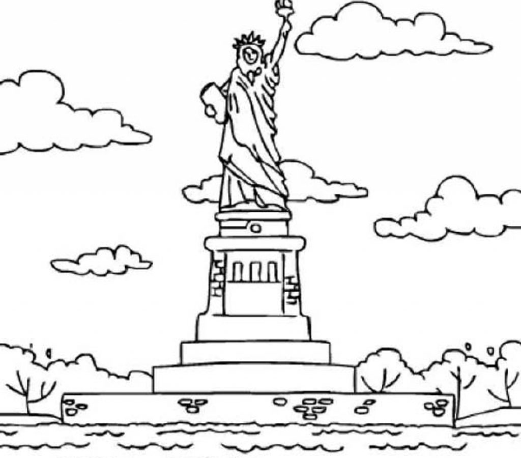 1024x900 Statue Of Liberty New York Coloring Page Free Pages Printable