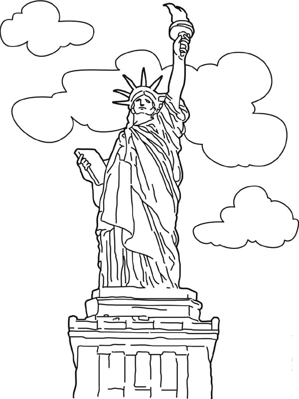 600x800 Worldwonders Liberty Statue Coloring Pages Batch Coloring