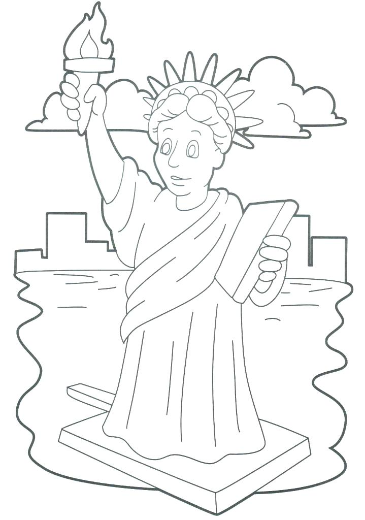 719x1024 Lady Liberty Coloring Pages