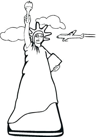 336x480 Statue Of Liberty Coloring Page As Well As Statue Of Liberty
