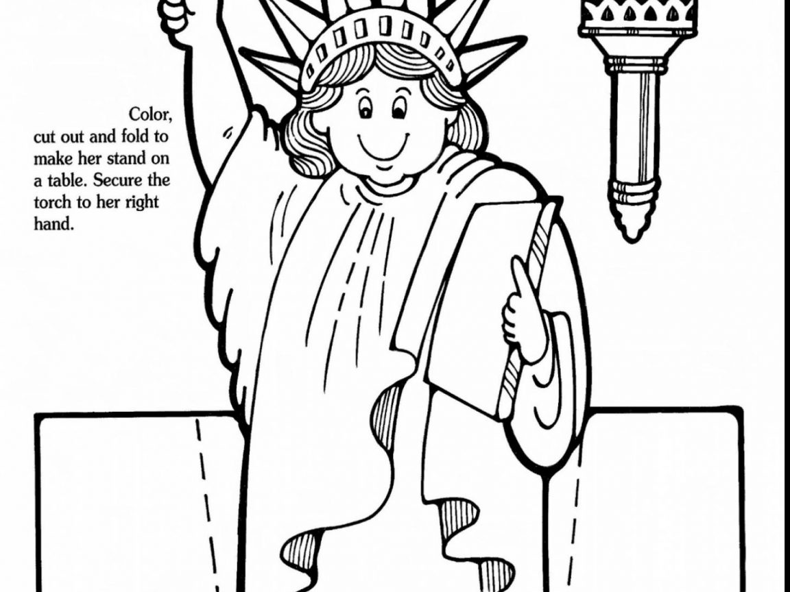 1152x864 Statue Of Liberty Coloring Pages Regarding Motivate Free Printable