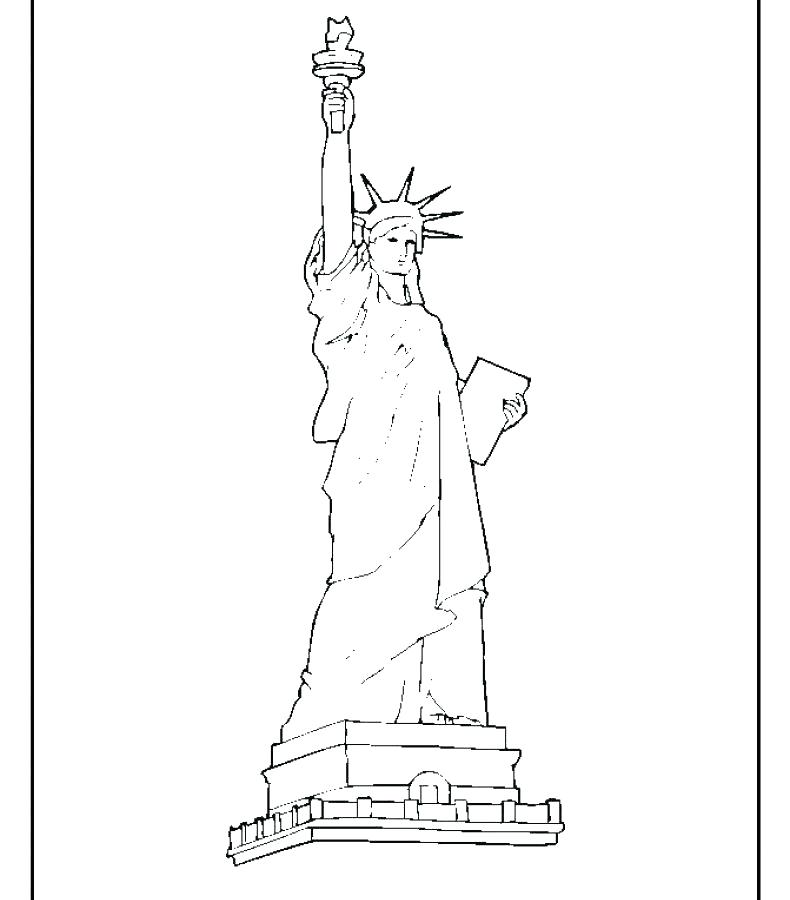 790x900 Statue Of Liberty Coloring Sheet Free Printable Statue Of Liberty