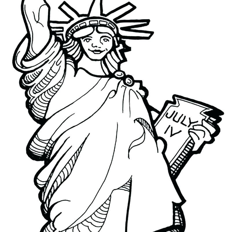 778x800 Statue Liberty Torch Coloring Page Impressive Design Statue