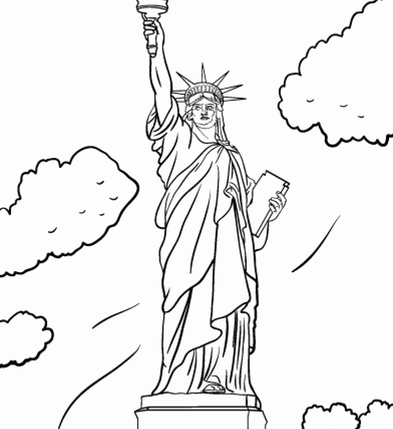 Statue Of Liberty Coloring Page For Kids