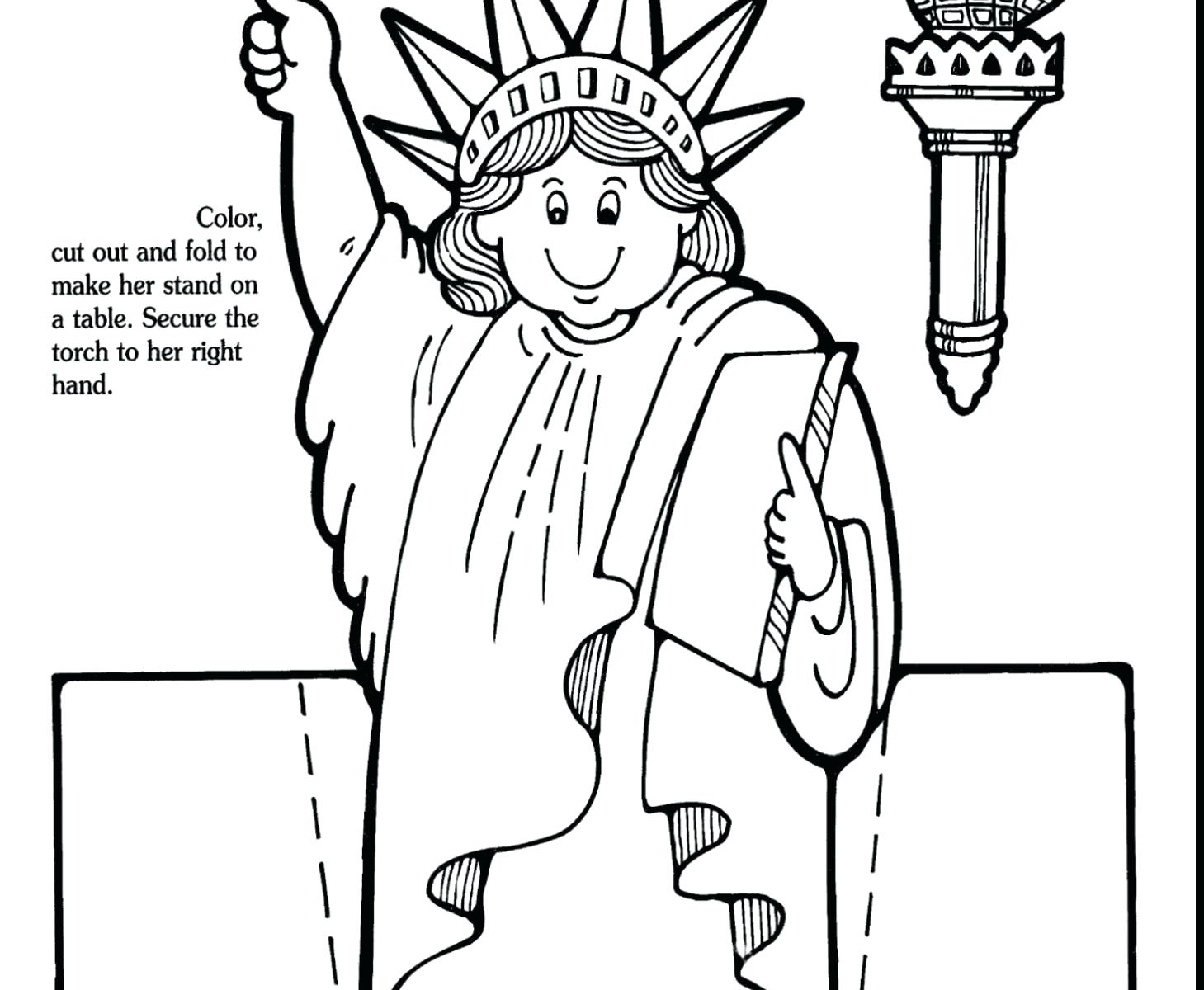 1459x1200 Statue Of Liberty Coloring Page