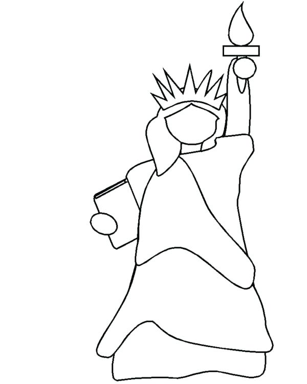 600x750 Statue Of Liberty Coloring Page With Free Of Coloring Pages Statue
