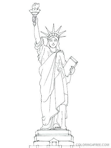 384x512 Statue Of Liberty Coloring Pages Statue Of Liberty In Island