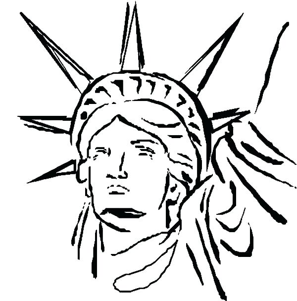 600x608 Statue Of Liberty Coloring Pages Statue Of Liberty Of Coloring