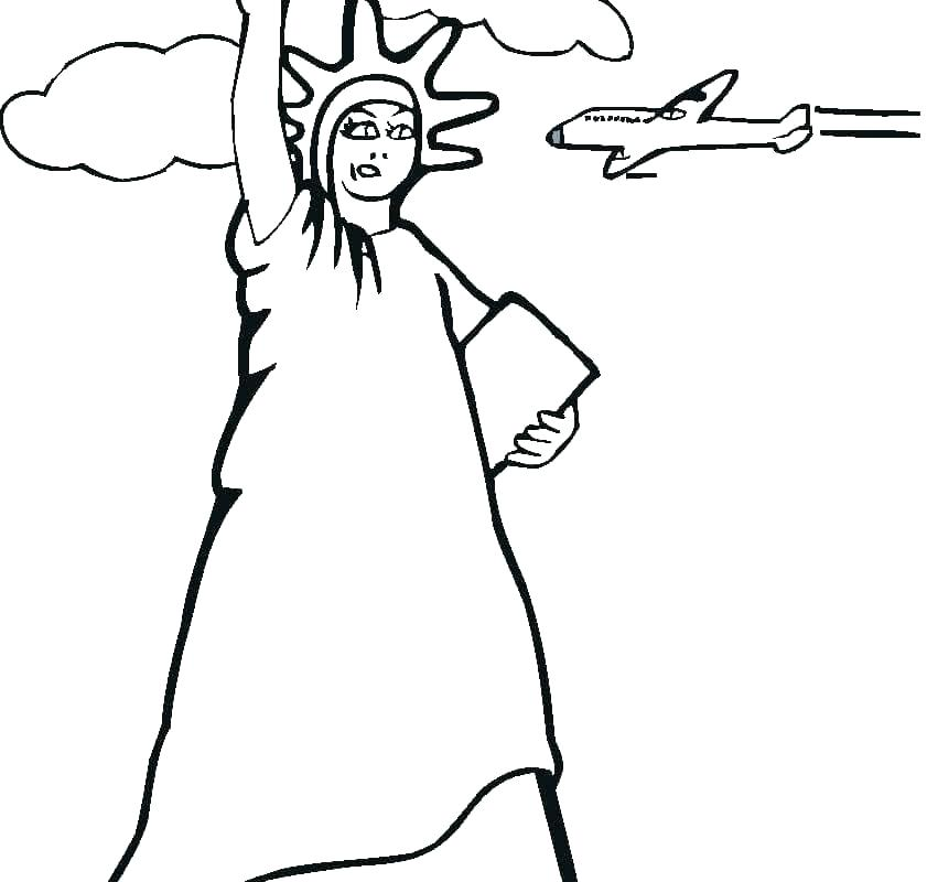 841x800 Statue Of Liberty Coloring Pages To Print The Statue Of Liberty