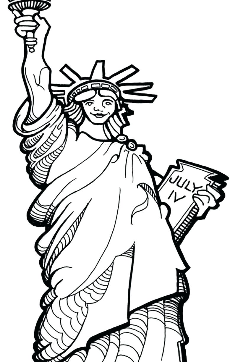 778x1224 Coloring Pages Statue Of Liberty Coloring Page Realistic Pages