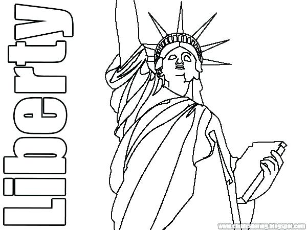 600x450 Statue Of Liberty Coloring Pages