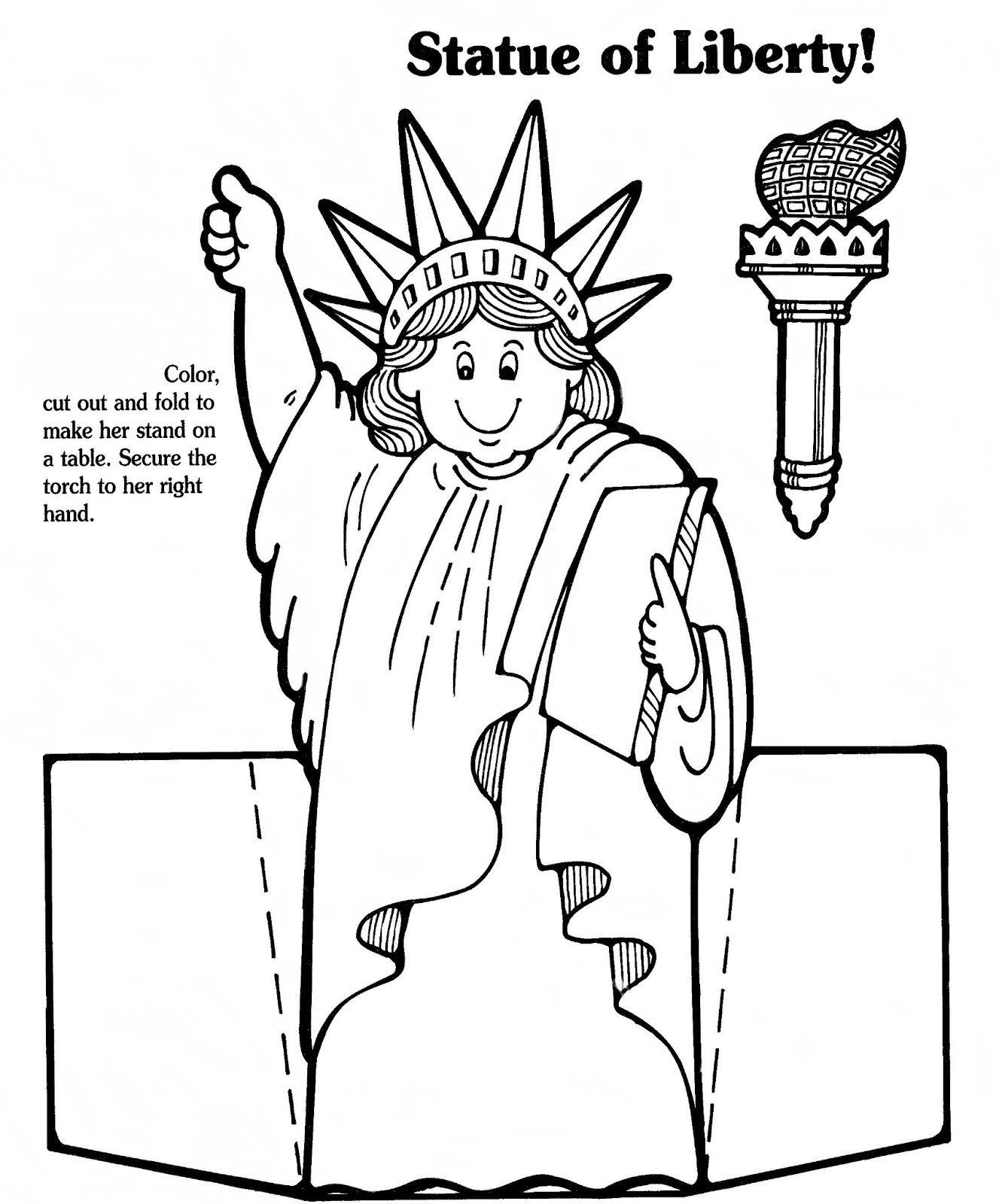 1327x1600 Lady Liberty Paper Doll