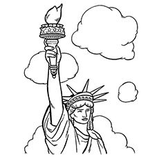 230x230 Printable Statue Of Liberty Coloring Page Free Pdf Download