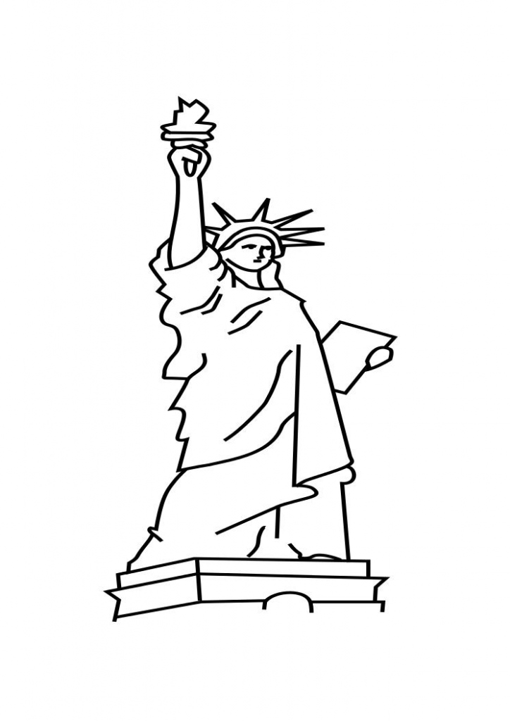 724x1024 Statue Liberty Coloring Page Beautiful Free Printable Statue