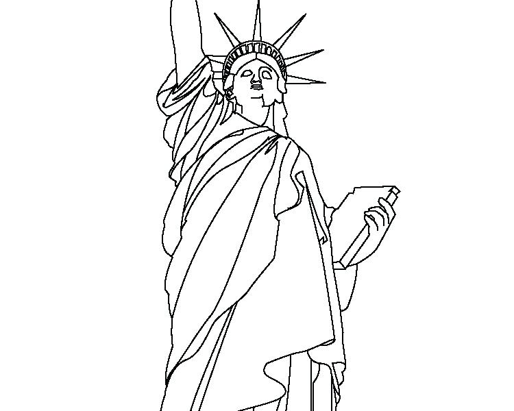 750x600 Statue Of Liberty Coloring Pages Download Statue Of Liberty