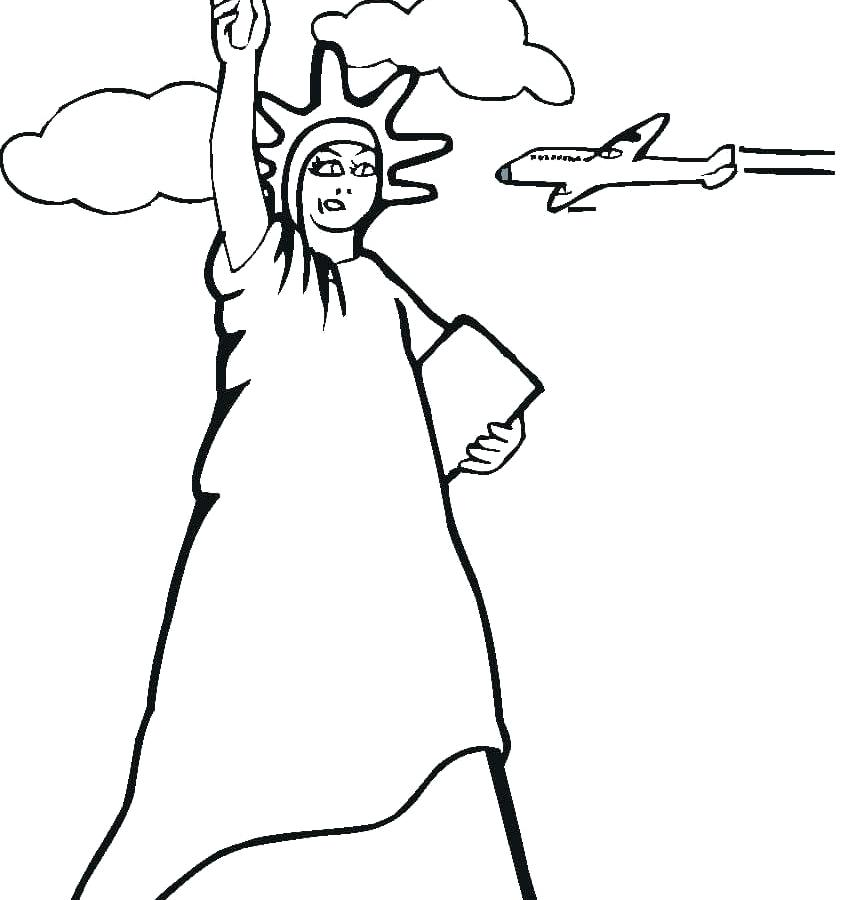 841x900 Statue Of Liberty Coloring Pages Statue Of Liberty Coloring Page