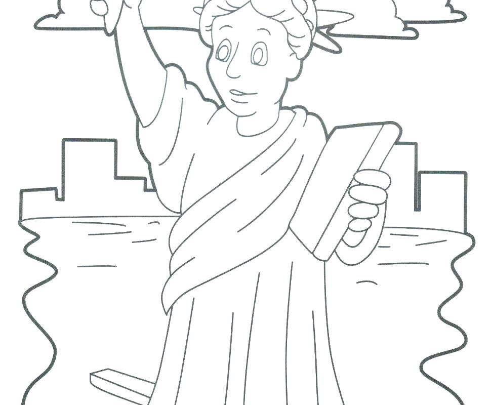 970x800 Statue Of Liberty Coloring Pages Statue Of Liberty Coloring Pages
