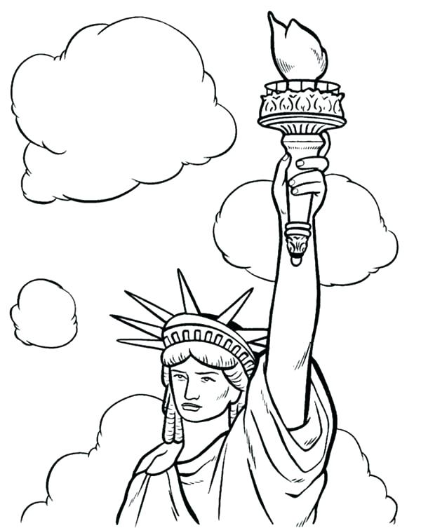 600x753 Statue Of Liberty Coloring Pages To Print Page Free