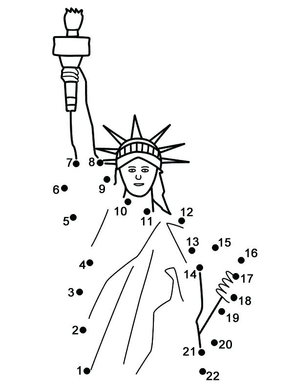 600x800 Coloring Pages Of Peoples Names Statue Liberty Connect The Dots