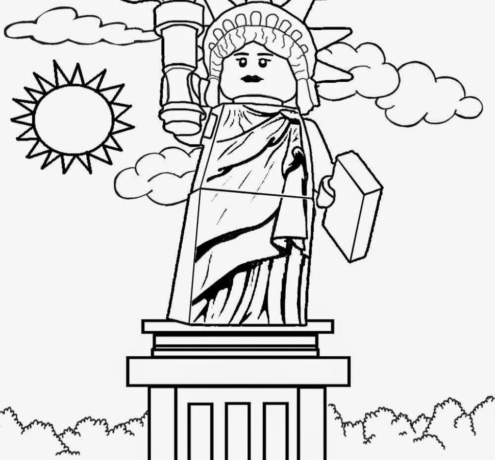 970x900 Stunning Design Statue Of Liberty Coloring Page Free Pages