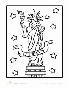 236x300 The Statue Of Liberty Coloring Pages For Kids Adventures
