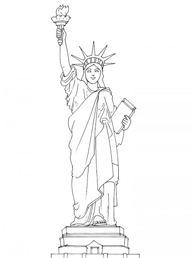 384x512 Free Statue Of Liberty Coloring Pages For Kids