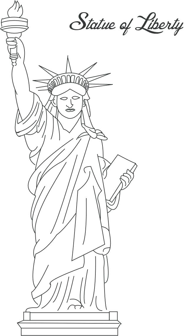 635x1138 Lady Liberty Coloring Pages Coloring Page Of Statue Of Liberty