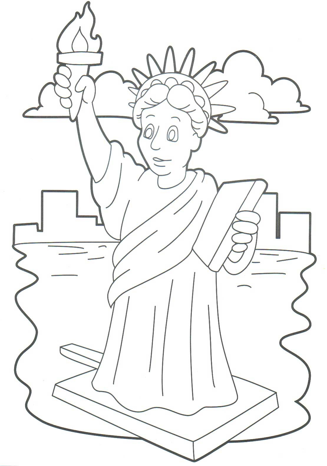 1110x1580 Monumental Statue Of Liberty Coloring Page Pag