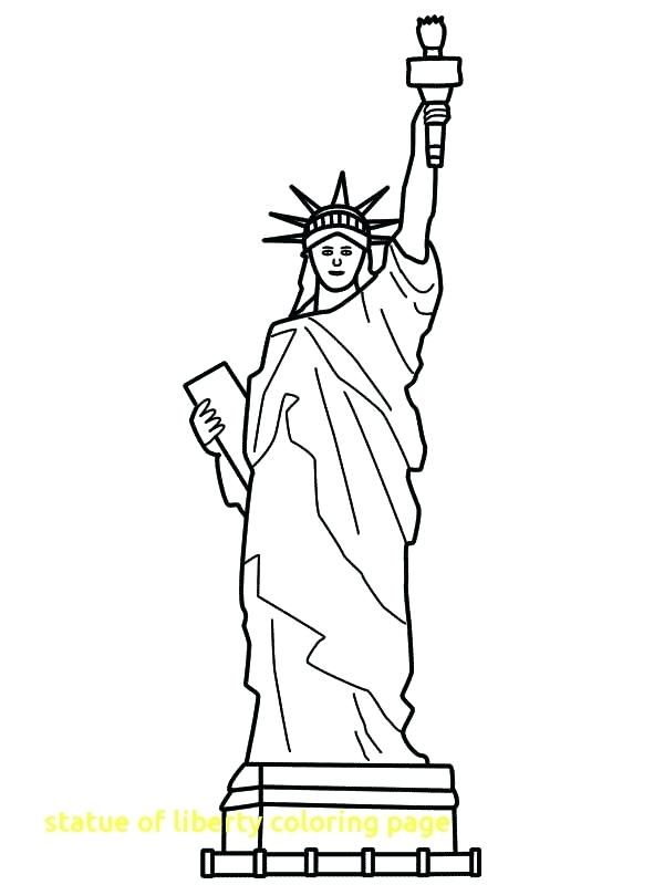 600x800 Statue Of Liberty Coloring Page As Well As Statue Of Liberty