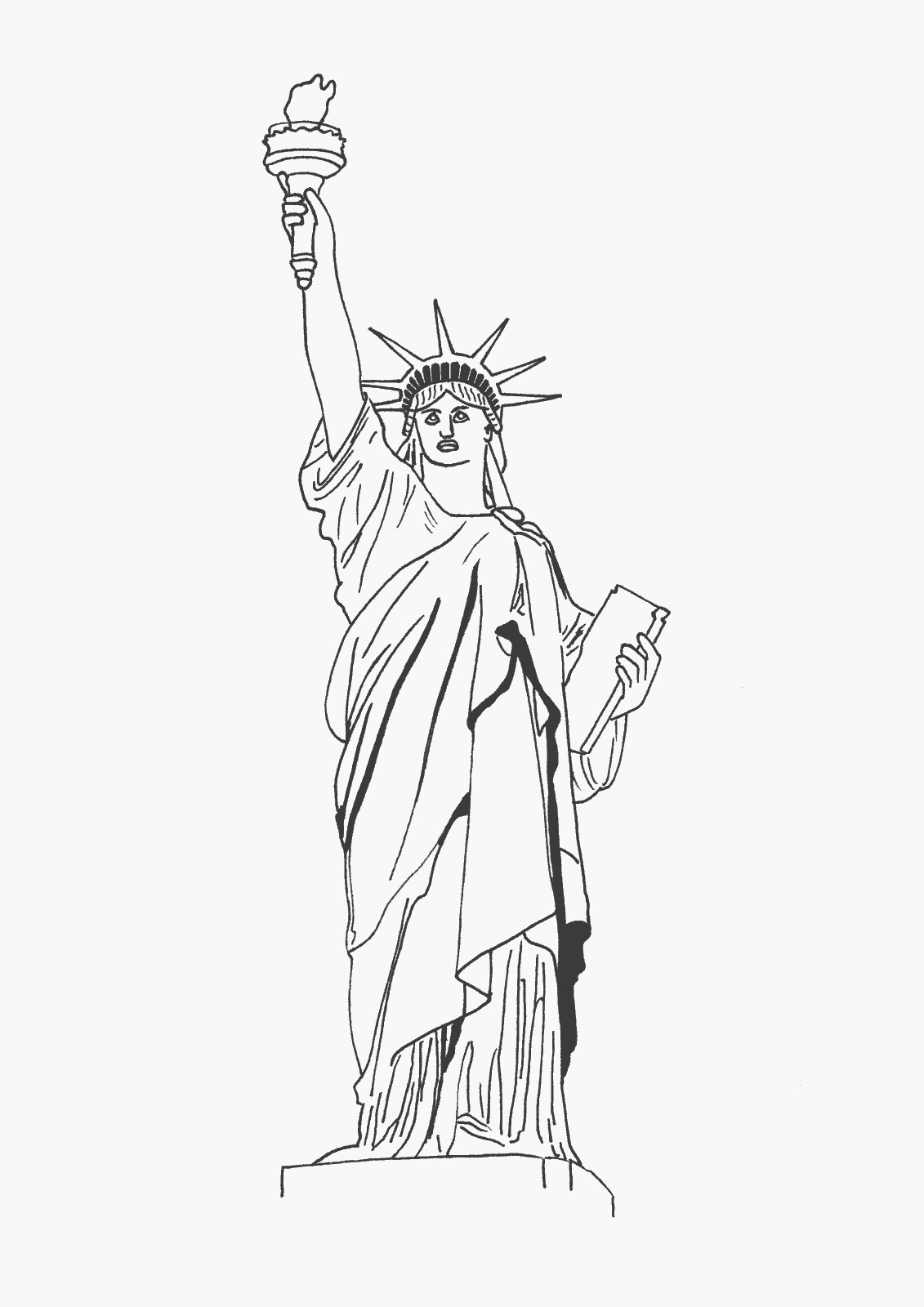 1131x1600 Statue Of Liberty Coloring Page Beautiful Statue Liberty Coloring