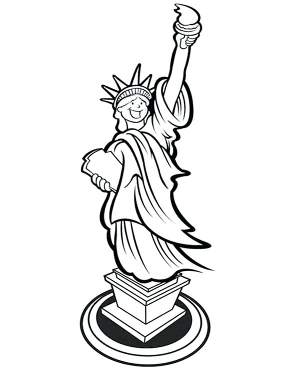 600x750 Statue Of Liberty Coloring Page Statue Of Liberty Coloring Pages