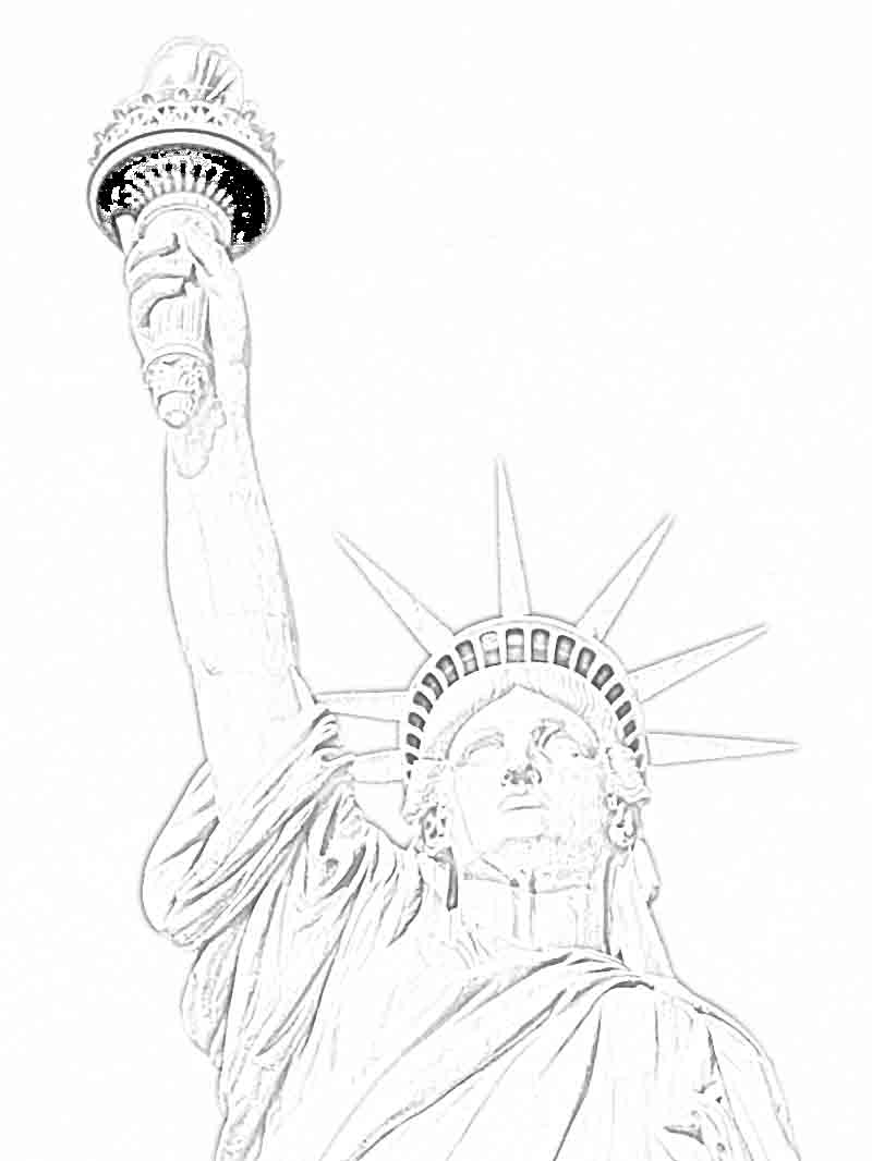 800x1066 Statue Of Liberty Coloring Page Selection Free Coloring Pages