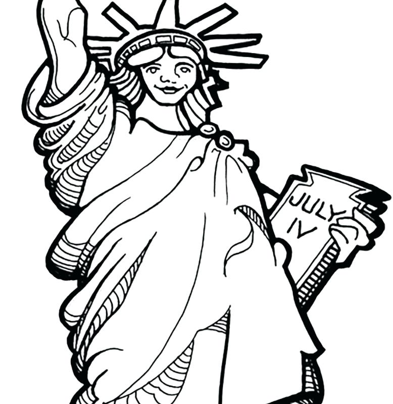 778x800 Statue Of Liberty Coloring Page With Free Of Coloring Pages Statue