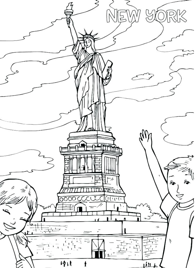 748x1024 Statue Of Liberty Coloring Pages Awesome Statue Of Liberty