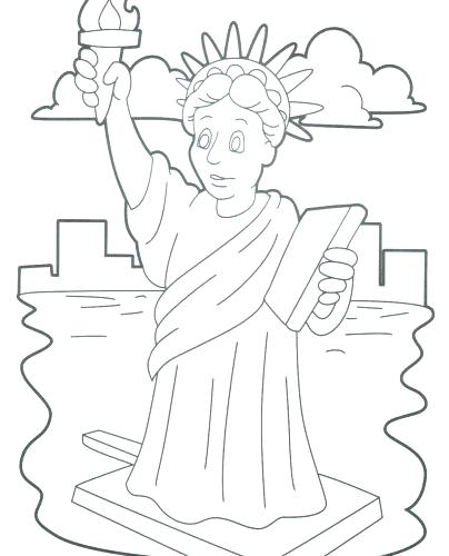 404x500 Statue Liberty Coloring Pages Coloring Pages The Statue