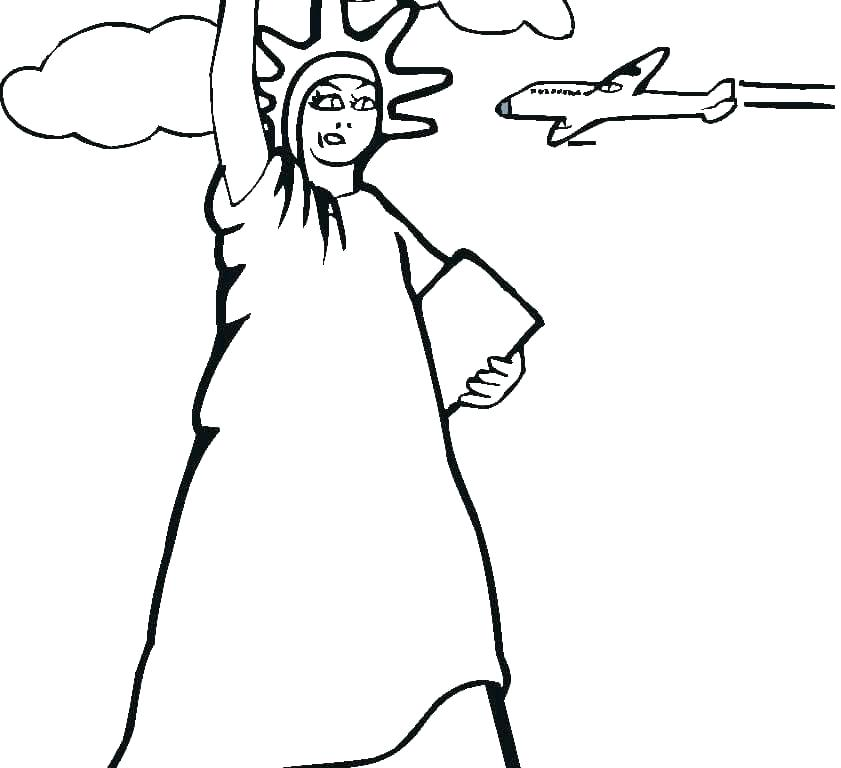 841x768 Statue Of Liberty Coloring Pages Statue Of Liberty Coloring Pages
