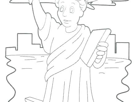 440x330 Statue Of Liberty Coloring Sheet S Statue Of Liberty Coloring