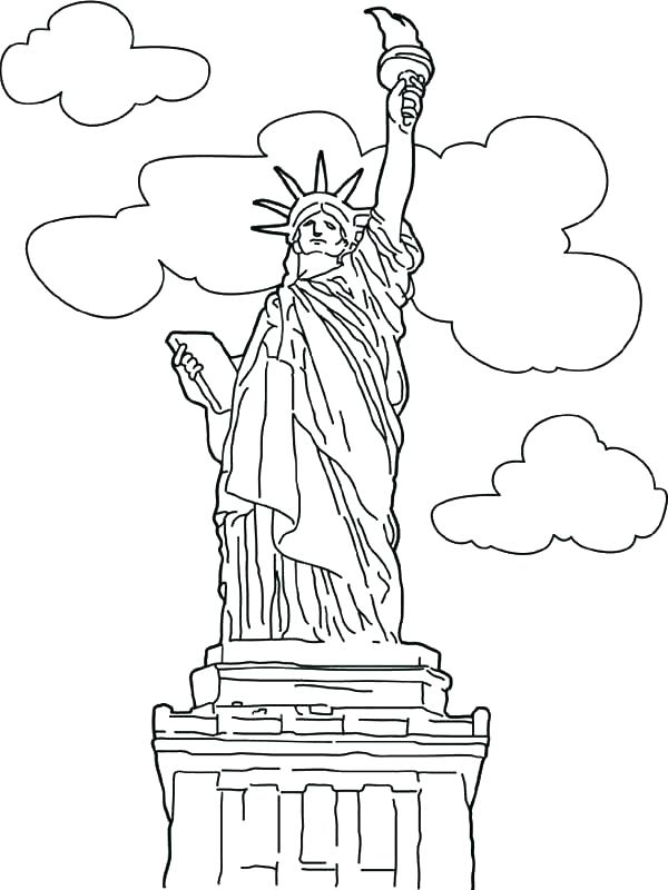 600x800 Statue Liberty Coloring Sheets Free Color Pages Statue