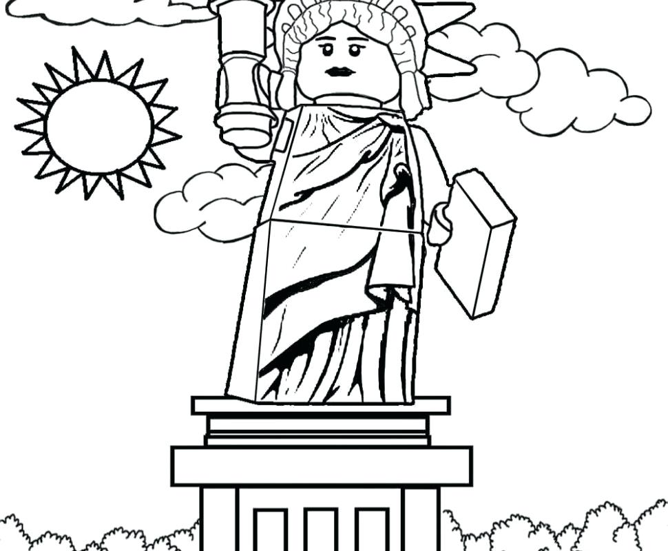 970x800 Statue Liberty Patriotic Coloring Pages Free Printable Free