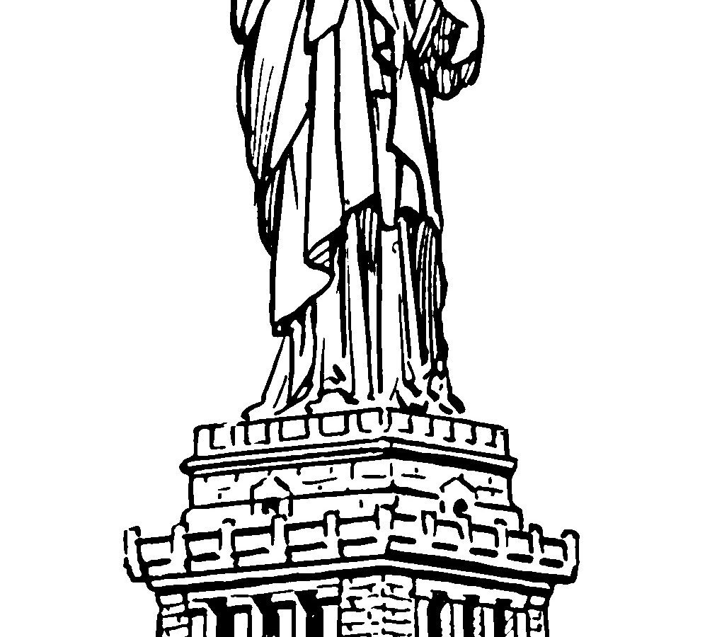 1013x900 Statue Of Liberty Ringing In New Year Coloring Page Free Pages