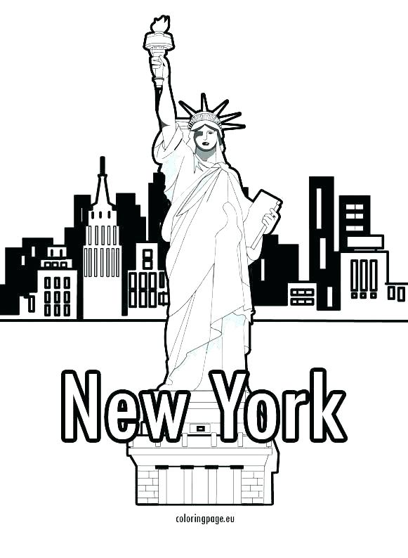 581x794 Coloring Pages Of The Statue Of Liberty