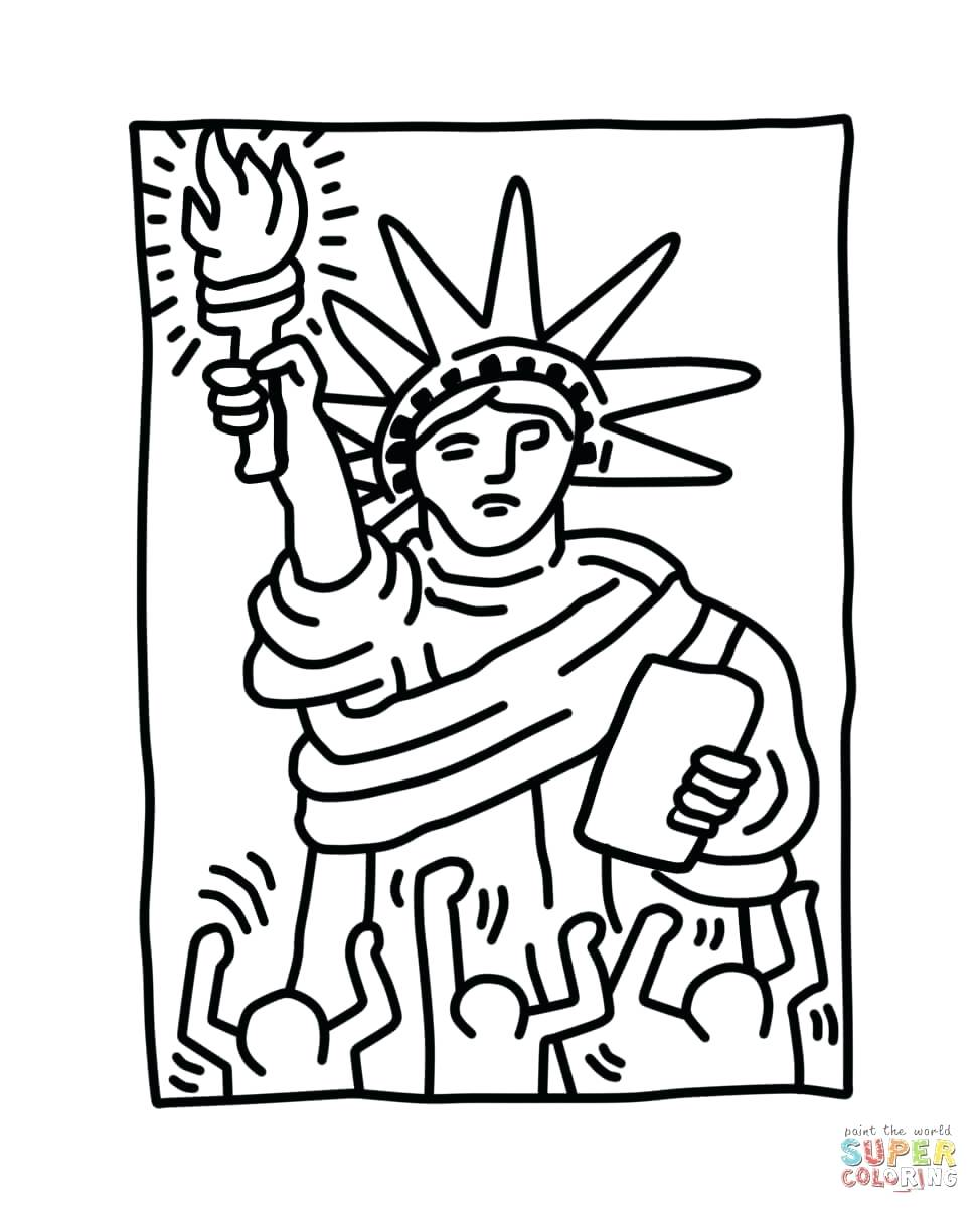 974x1207 Coloring Pages Statue Liberty Coloring Page Easy Statue