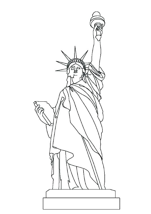 600x848 Lady Liberty Coloring Pages