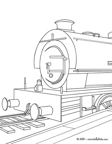 364x470 Steam Engine In The Landscape Coloring Pages