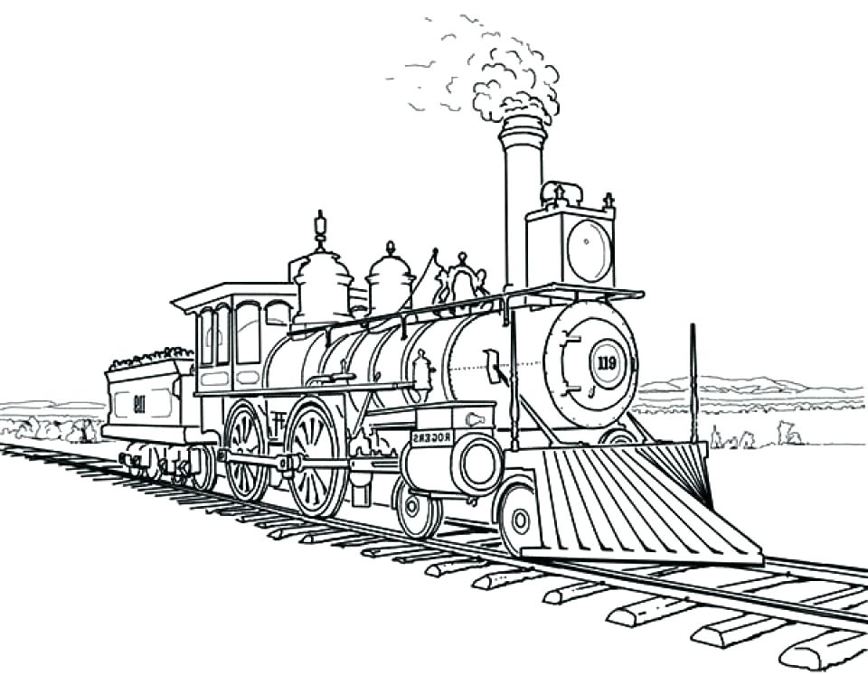 960x747 Surprising Train Engine Coloring Page Train Steam Engine Train