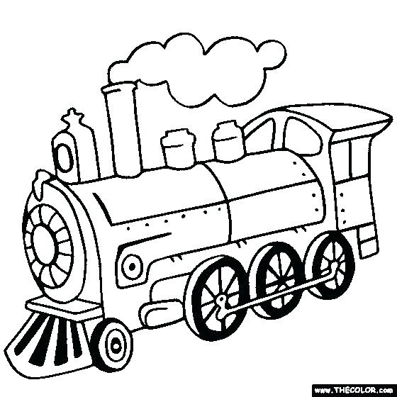 560x560 Train For Coloring Steam Locomotive Train Online Coloring Page