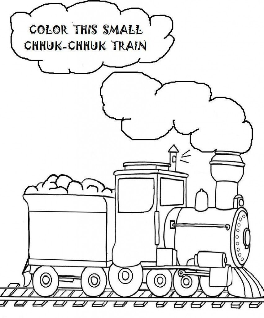 852x1024 Free Printable Train Coloring Pages For Kids